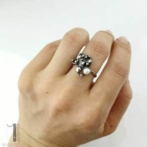 wyjątkowe pierścionki anthozoa - srebrny pierścionek