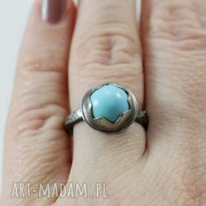 pierścionek turkus z arizony i srebro