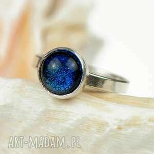 Turkusowy błękit pierścionek srebrny a462 - mały