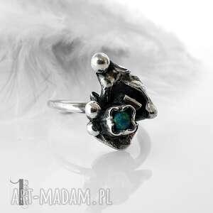 pierścionek pierścionki turkusowe turkusowy skrzat srebrny