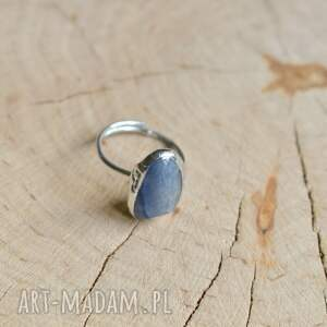 unikalne niebieski kwarc - pierścionek
