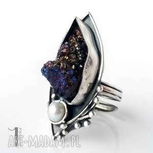 eleganckie pierścionki druza velen srebrny pierścień z druzą