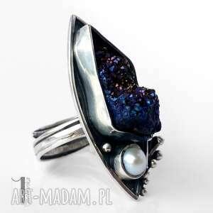 srebrne pierścionki tytan velen srebrny pierścień z druzą