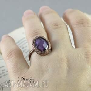 pierścionek violet crystal