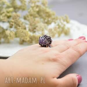 pierścionki pierścionek-duży violet - pierścionek z ametystem