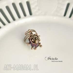 duży pierścionki violet - pierścionek ze szklanymi
