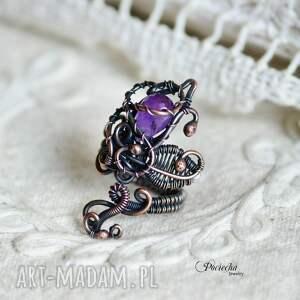 pierścionki pierścionek violet - z ametystem