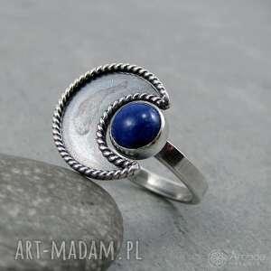 pierścionki tajemniczy w ramionach księżyca - lapis lazuli