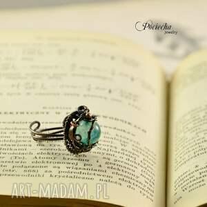 nietuzinkowe pierścionki agat waruna - pierścionek z agatem