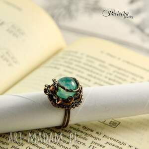 agat pierścionki waruna - pierścionek z agatem