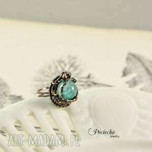 nietuzinkowe pierścionki pierścionek waruna - z agatem