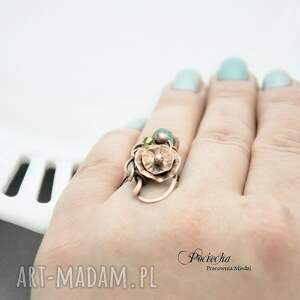 kwiatek pierścionki water lilly - pierścionek z kwiatem