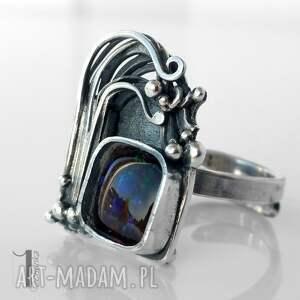 pierścionki metaloplastyka wichrowe wzgórze srebrny