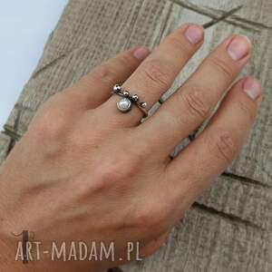 pierścionki perła-hodowlana wild pearl - drop i srebrny