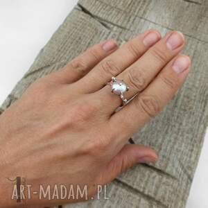 pierścionki perła-hodowlana wild pearl - atomic pink ii srebrny