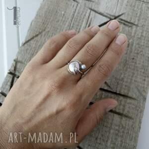 pierścionki perła-hodowlana wild pearl - double pink srebrny