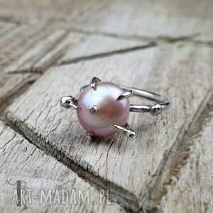 eleganckie pierścionki pierścionek-srebrny wild pearl - atomic pink ii srebrny
