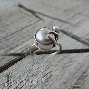 handmade pierścionki pierścionek-srebrny wild pearl - double pink srebrny