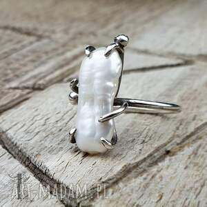 trendy pierścionki pierścionek-srebrny wild pearl - bpearl srebrny