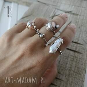 pierścionek-srebrny pierścionki wild pearl - double pink srebrny