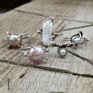 pierścionek-srebrny pierścionki wild pearl - drop i srebrny