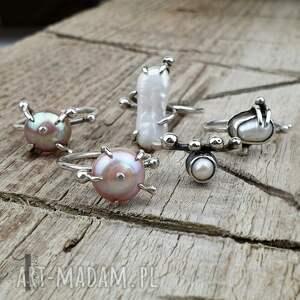 pierścionek-srebrny pierścionki wild pearl - atomic pink ii srebrny