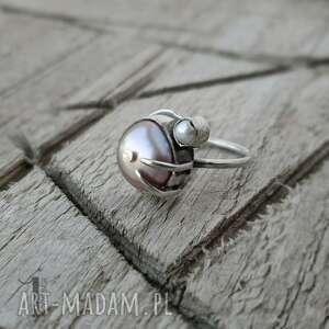 pierścionek-srebrny pierścionki różowe wild pearl - double pink srebrny