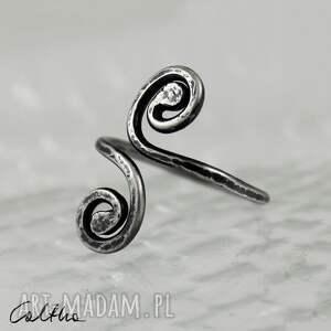 pierścionki srebro *zawijasy ii - srebrny