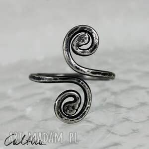 szare pierścionki pierścionek *zawijasy ii - srebrny