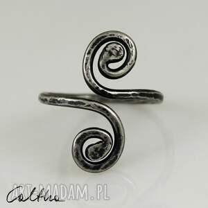 pierścionki pierścionek *zawijasy ii - srebrny