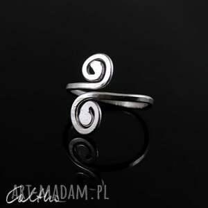 srebro pierścionki zawijasy - srebrny pierścionek