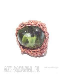 pierścionki esterks zielony pierścionek