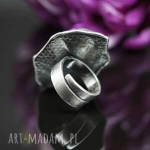 pierścionek fioletowe zoisyt i rubin - earth