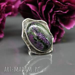 gustowne pierścionek zoisyt i rubin - earth
