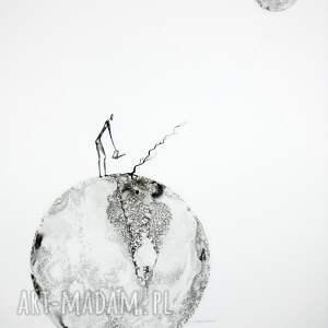 ART Krystyna Siwek szare plakaty marzenia grafika 50x70 cm wykonana ręcznie