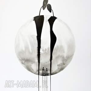 hand made plakaty minimalizm grafika 50x70 cm wykonana ręcznie