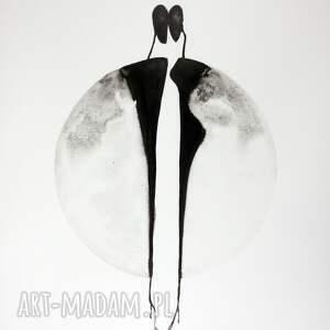 obrazy autorskie plakaty białe grafika 50x70 cm wykonana ręcznie