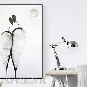 minimalizm plakaty białe grafika 70x100 cm wykonana ręcznie