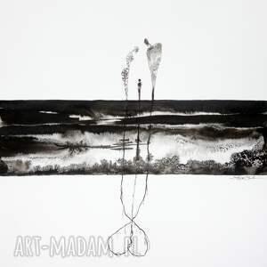 obrazy ręcznie malow grafika 50x70 cm wykonana