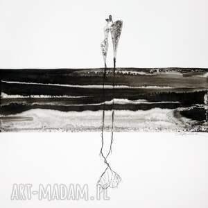 intrygujące plakaty obrazy ręcznie malow grafika 50x70 cm wykonana