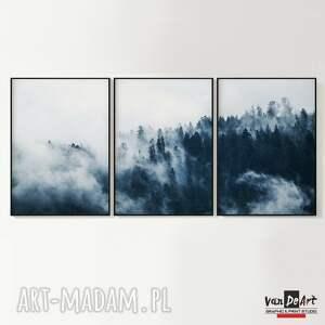 ręcznie zrobione plakaty las las we mgle