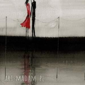 czerwone plakaty duża-abstrakcja obraz malowany ręcznie 70 x 100 cm