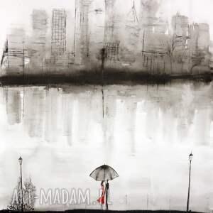 plakaty duża-abstrakcja obraz malowany ręcznie 70 x 100 cm