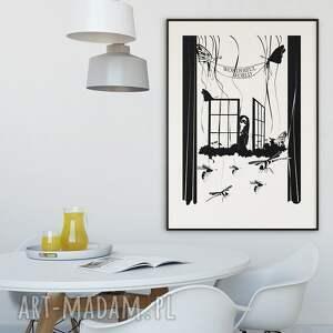 białe plakaty plakat wonderful world... 50x70 cm.