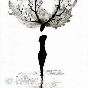 modne plakaty grafika kobieta zestaw 2 grafik 30x40 cm wykonanych