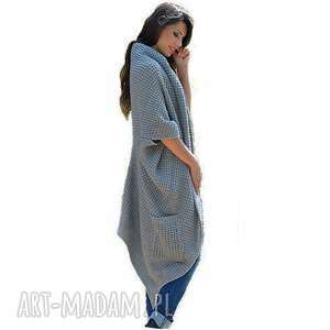 asymetryczny płaszcze długi sweter