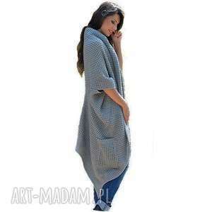 asymetryczny płaszcze długi sweter płaszcz
