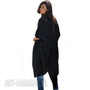 płaszcze swetry asymetryczny długi sweter płaszcz