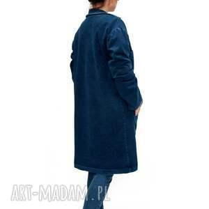 wyraziste płaszcze oversize bien fashion granatowy kardigan