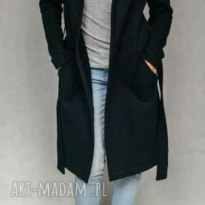 Lil Yo odziez Black Hood płaszcz dresowy czarny z kapturem
